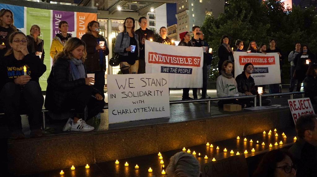 El sur de Florida realizó vigilia en solidaridad con Charlottesville