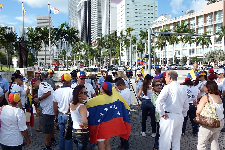 Sanciones al régimen de Maduro dan satisfacción a venezolanos en Miami