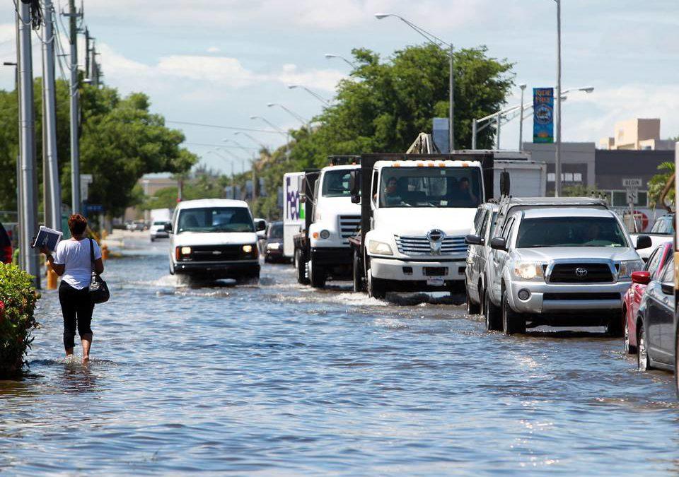 Tras fuertes lluvias el sur de Florida tiene alerta de inundación