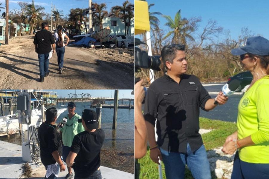 Afectados muestran la destrucción del huracán Irma en los cayos de Florida