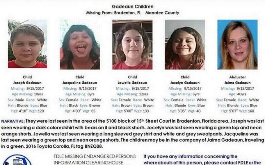 Encontraron sanos y salvos a cuatro hermanos desaparecidos en Florida