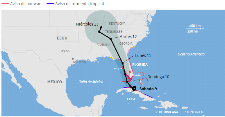 Irma se aleja de Miami y se dirige a Tampa: residentes de Florida no deben bajar la guardia