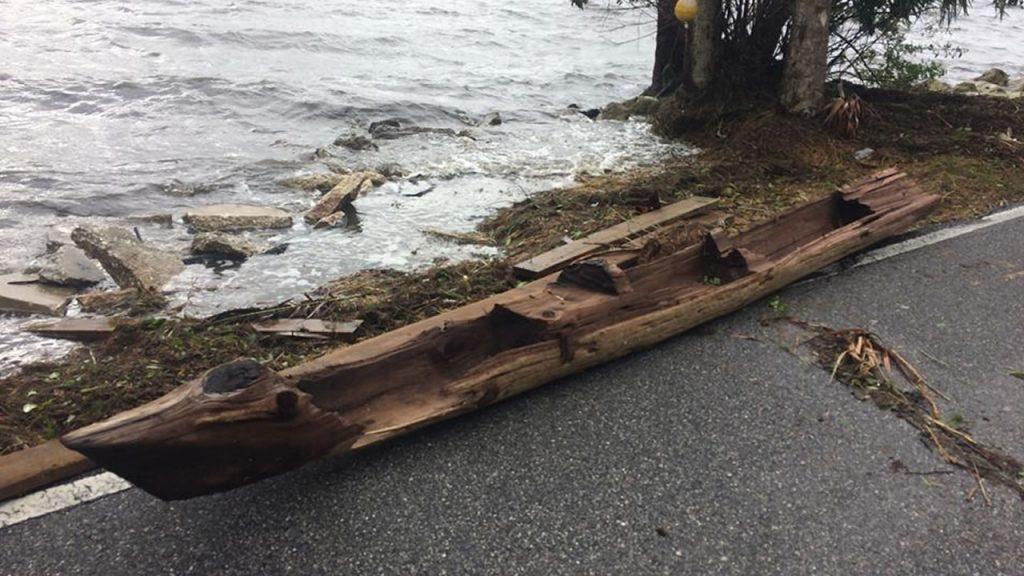 Canoa elaborada en los años 1600 salió flotando en Florida tras huracán Irma