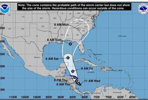 """Declaran """"estado de emergencia"""" en 29 condados de Florida por la llegada de """"Nate"""""""