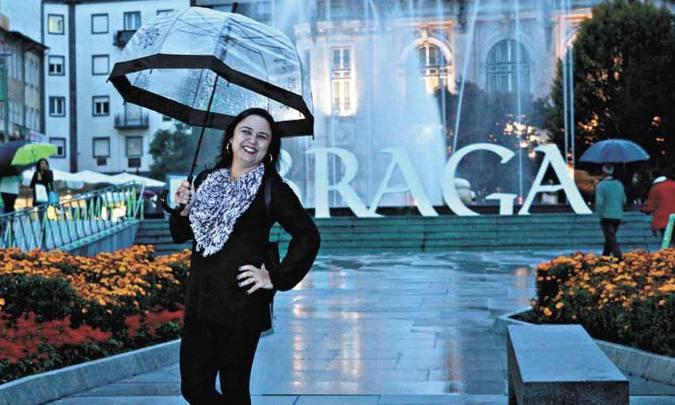 Alexandra Gomide se mudou para Portugal e quer levar toda a família(foto: Alexandra Gomide/Arquivo pessoal)